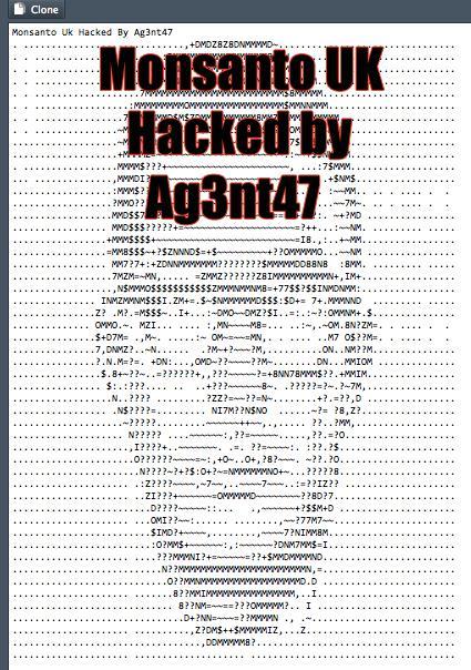 monsanto hacked