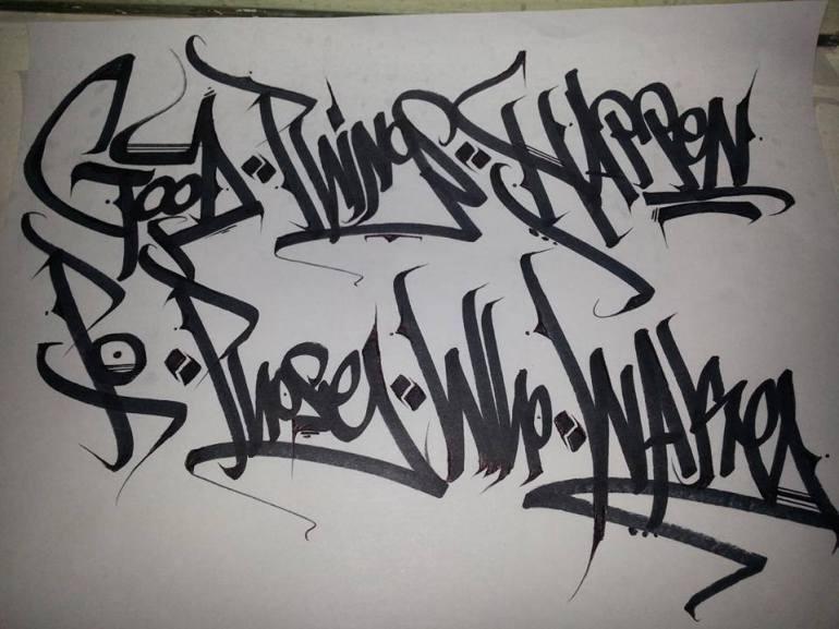 wake self caligraphy