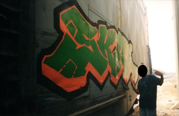SKER UAT graffiti 1996 freight