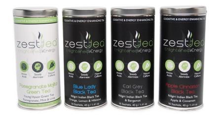Zest Tea tins