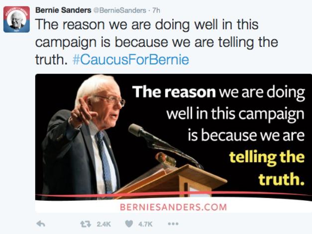 Bernie tweet